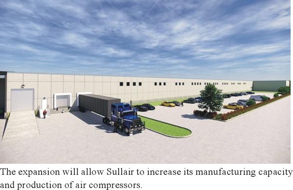 Sullair announces major expansion plan in Michigan City