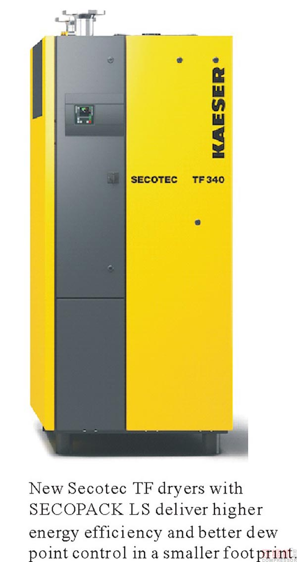 Kaeser expands secotec dryers with new TF series