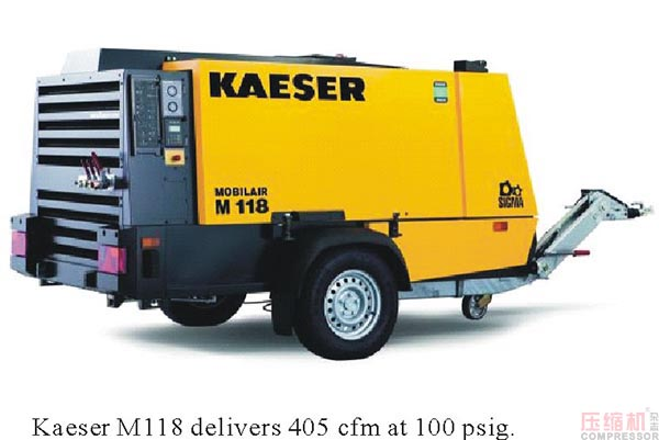 New Kaeser Mobilair M118 portable compressor