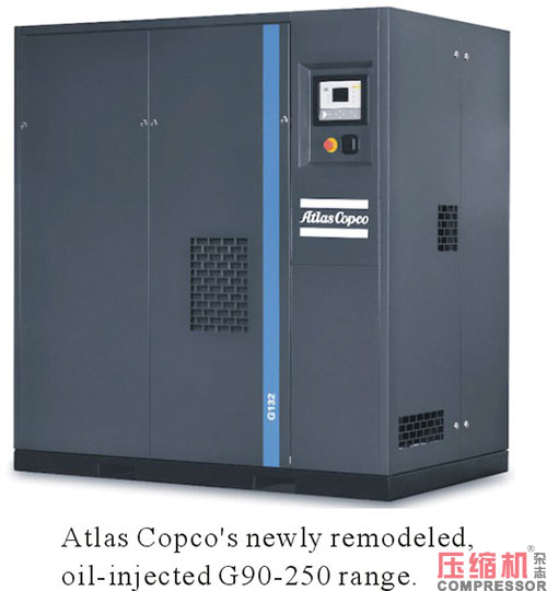 Atlas Copco launches remodeled Oil-Injected G90-250 range